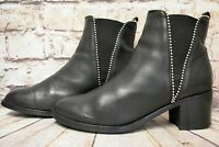 Womens Clarks Jalouise Poppy Black Leather Pull On Ankle Boots UK 7 D EUR 41