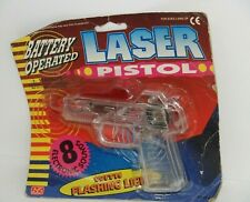 Vintage Battery Operated Laser Pistol w/ Flashing Lights by NS