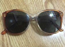 Vintage Titmus Z87 Safety Eyeglasses Plastic Clear Reddish-Orange Frame 5 3/4�