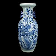 China 19. Jh. Große Qing - Large Chinese Blue & White Vase - Chinois Vaso Cinese