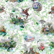 Christian Lacroix Reveries Triple Pinch Pleat Curtains Vert Buis 145CM X 285CM