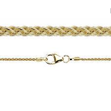Juwelier Zopf Kette Kette Stärke 1,3 mm aus Echt Gold 333 8 Kt Gelbgold Neu