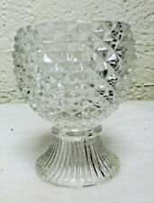 Avon Crystal Candle Votive Holder Pineapple Pattern