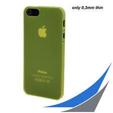 [ für iPhone 5/5S/SE ] 0,3mm UltraSlim Case - Gelb Tranparent