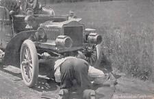 "Antique COMIC POSTCARD c1908 Man Under Auto ""I'm Detained"" 15100"
