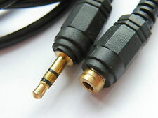 Gold Plated 3.5mm Stereo jack Extension cable 2.5M Black