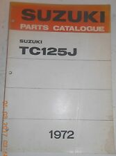 1972 72 SUZUKI TC125J TC 125 PARTS CATALOG SHOP SERVICE REPAIR MANUAL Catalogue