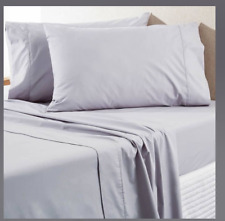 🌺 SHERIDAN Everyday Cotton 250 T Count Grey Pair of  Standard Pillowcases 🌺
