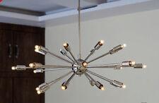 Metà del secolo moderno cromo Sputnik atomica lampadario a Stella Luce 24ARM Lampadine