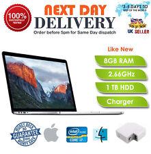 "Apple Macbook Pro 15"" laptop Core i7 2.66GHz 8GB RAM 1TB OS A+ Grade Mid 2010 UK"