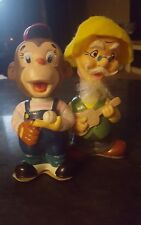 Alps Wind Up Toy - Monkey and Old Man Hobo Hillbilly