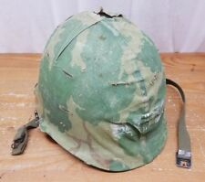 Military Vietnam Era 1972 Steel Pot Helmet W/ Liner / Cover Nice Shape