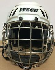 Itech Hc10 Hockey Helmet with Cage White Senior Extra Small 03Rp