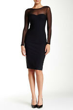 Bianca Nero Audrey Silk Blend Dress Black M NWT $350
