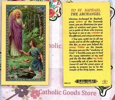 Prayer to St Saint Raphael the Archangel - Laminated Holy Card