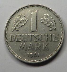Germany-Federal Republic Mark 1961F Copper-Nickel KM#110