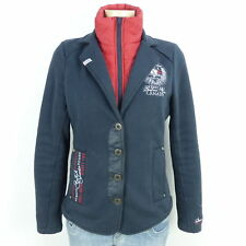 SOCCX Double Face Layer Blazer Jacke Blau Rot Gr. 38 M