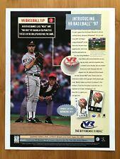 VR Baseball '97 PS1 Vintage Print Ad/Poster MLB Atlanta Braves Greg Maddux 90's