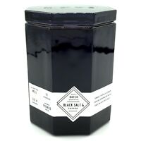 Makers of Wax Goods Black Salt and Toffee Scented Candle in Octagon Shaped Glass