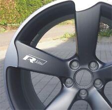 6x R line VW Volkswagen Aufkleber für Räder Emblem Logo