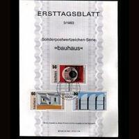 Alemania R.F.Tarjeta Postal Yv. 996/8. Arquitecto Walter Gropius.Pinturas [R9410