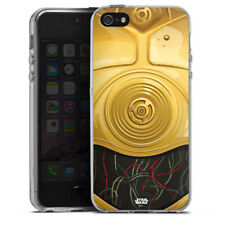 Apple iPhone 5 Silikon Hülle Case - C3PO Closeup