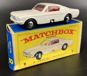 Matchbox Lesney #8 Ford Mustang In Box VNM