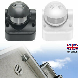 240V Outdoor 180 Degree Security PIR Motion Movement Sensor Detector Switch UK