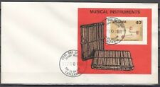 Tanzania, Scott cat. 445. Native Music Instruments s/sheet on a First day cover