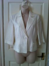 Jesire Cream Linen Jacket - Size 8 - UNWORN