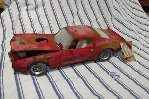 1/18 Scale Diecast 1973 Firebird Trans Am RED Barn Find Weathered Junkyard Rusty