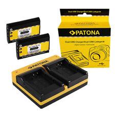 2x Batteria Patona + caricabatteria USB dual per Nikon EN-EL11