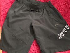 Men's black shorts medium stronger design gym/holiday zip pockets