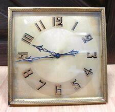 Vintage Art Deco Tiffany & Co. Clock France Brass Square *RUNS*  No Reserve!