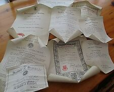 Collection Vintage 1920/30s Diplomas And Certs For  EDWARD HALKYARD FERRIDAY
