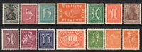 Germany 1922 Joblot collection x 14 Fine MINT Stamps