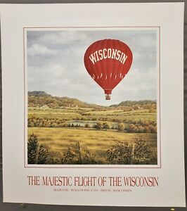 """Flight of the Wisconsin"" by Harold E. Hansen - Lithograph"