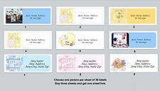 30 Personalized Return Address Labels Baby Shower Buy 3 get 1 free (ba 6)