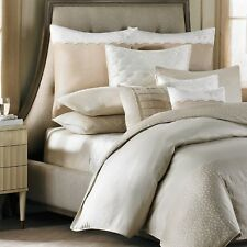 BARBARA BARRY Lace Border Square Feather TOSS PILLOW Beige Tan Cream Pleated