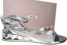 $795 Oscar De La Renta Peep Toe D'orsay Gold Metallic Pump Shoe 37.5-7.5 Crystal