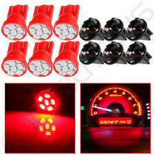 6x PC194 Instrument Panel Cluster Red T10 6 LED Light Bulb Dashboard w/ Sockets