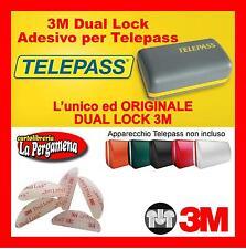 2 pz Adesivi Telepas Dual Lock 3M per Telepass Navigatori GoPro ORIGINALI Iphone