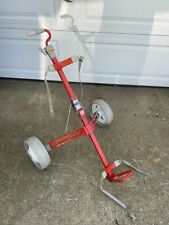 WILSON Red Golf Bag Holder/Caddy Push-Pull Cart Folding/Collapsible Vintage