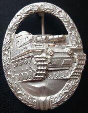 ✚7904✚ German Army Heer Tank Battle Badge in Silver post WW2 1957 pattern ST&L