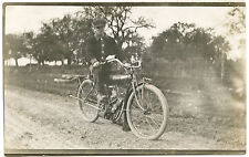 "RPPC Canada Ontario Smithville ""Indian Motorcyle"" Rider Interesting Message"
