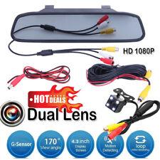 """4.3""""LCD Car Rear View Mirror Monitor +4LED Night Vision Reverse Backup HD Camera"""