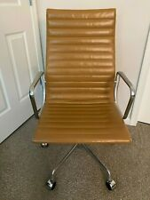 Herman Miller Eames Aluminum Group Executive Office Desk Chair Authentic Leather