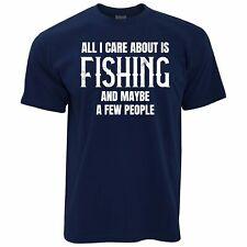 Mens Fishing T Shirt All I Care About Is Fishing Angling Fisherman Joke Tshirt