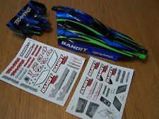 Traxxas VXL Bandit Body w/ Wing Wire Mount & Decals Blue Green Black XL5 XL-5