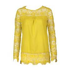 De Moda para dama blusa manga larga suéter Mujer Holgado Informal Encaje Bordado